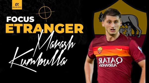 Marash Kumbulla, défenseur central de l'AS Roma,